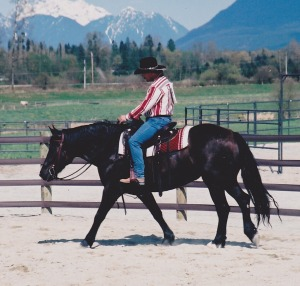 Gilbert riding Cherry Creek Danzon Gina at her first show in 2002.